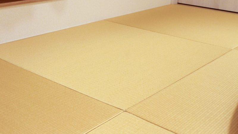 琉球畳でおしゃれな畳スペース。来客用や子どもの遊び・昼寝場所にも最適
